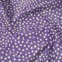 Flowerheads and Spots Polycotton Fabric Purple