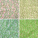 Polycotton Fabric Ladybirds Ladybugs on Leaves