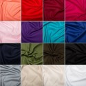Cotton Stretch Sateen Dress Fabric Plain Coloured Material 97% Cotton 3% Spandex