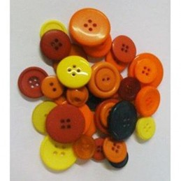 Assorted Mixed Plastic Buttons Autumn