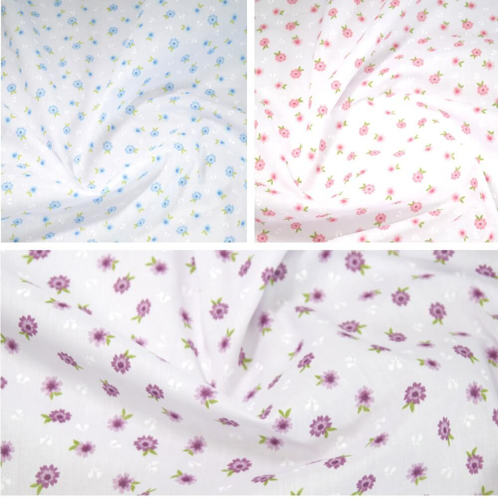 Polycotton Fabric Antonio Floral Flowers Vines