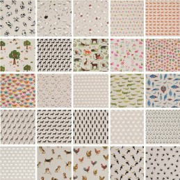 Cotton Rich Linen Fabric Curtain & Upholstery Wildlife Animals 40+ Designs Material