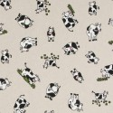 Cotton Rich Linen Fabric Curtain & Upholstery Cows
