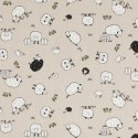 Cotton Rich Linen Fabric Curtain & Upholstery Sheep