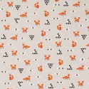 Cotton Rich Linen Fabric Curtain & Upholstery Scandi Foxes