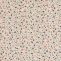 Cotton Rich Linen Fabric Curtain & Upholstery Small Forest Friends