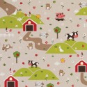Cotton Rich Linen Fabric Curtain & Upholstery Farm House