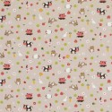 Cotton Rich Linen Fabric Curtain & Upholstery Farm Animals