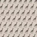 Cotton Rich Linen Fabric Curtain & Upholstery Giraffe