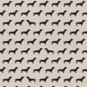 Cotton Rich Linen Fabric Curtain & Upholstery Dachshund