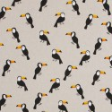 Cotton Rich Linen Fabric Curtain & Upholstery Toucan