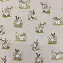 Cotton Rich Linen Fabric Curtain & Upholstery Hares