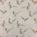 Cotton Rich Linen Fabric Curtain & Upholstery Pheasants