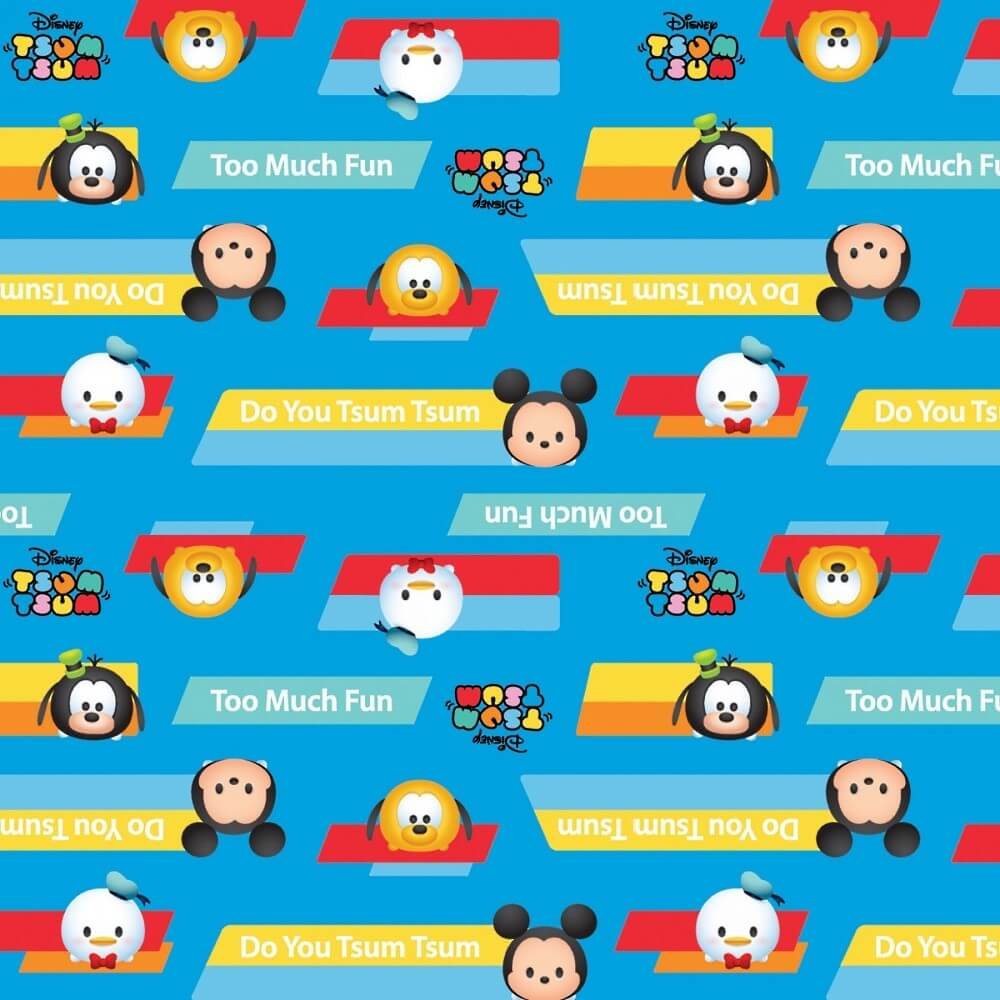 100% Cotton Patchwork Fabric Springs Creative Disney Do You Tsum Tsum?