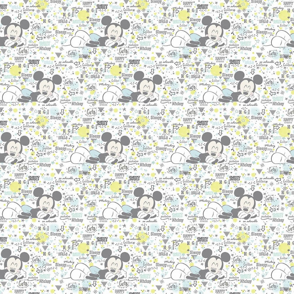 100% Cotton Patchwork Fabric Springs Creative Disney Peekaboo Mickey Baby