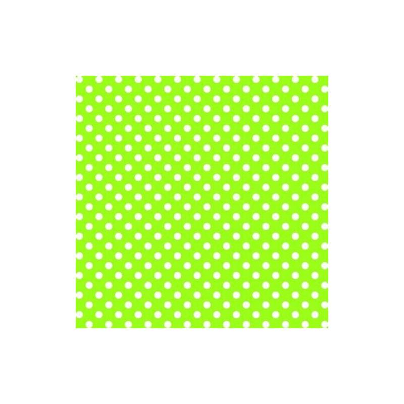 Vinyl PVC Tablecloth Easy Wipe Clean Mini Spots Lime