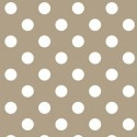 Vinyl PVC Tablecloth Easy Wipe Clean Polka Dots Beige