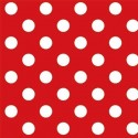 Vinyl PVC Tablecloth Easy Wipe Clean Polka Dots Red