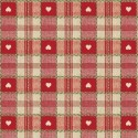 Vinyl PVC Tablecloth Easy Wipe Clean Heart Check Red