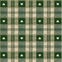 Vinyl PVC Tablecloth Easy Wipe Clean Heart Check Green