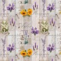 Vinyl PVC Tablecloth Easy Wipe Clean Lavender Sunflower