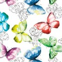 Vinyl PVC Tablecloth Easy Wipe Clean Beautiful Butterfly