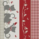Vinyl PVC Tablecloth Easy Wipe Clean Cats & Gingham