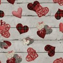 Vinyl PVC Tablecloth Easy Wipe Clean Love Hearts