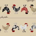 Vinyl PVC Tablecloth Easy Wipe Clean Chickens