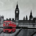 Vinyl PVC Tablecloth Easy Wipe Clean London Buses