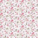 Vinyl PVC Tablecloth Easy Wipe Clean Country Floral Pink