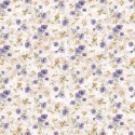 Vinyl PVC Tablecloth Easy Wipe Clean Country Floral Lilac