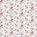 Vinyl PVC Tablecloth Easy Wipe Clean Country Floral Red