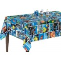 Vinyl PVC Tablecloth Easy Wipe Clean Sea Life Fish