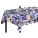 Vinyl PVC Tablecloth Easy Wipe Clean Lavender Patchwork