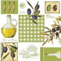 Vinyl PVC Tablecloth Easy Wipe Clean Olives Olive Oil