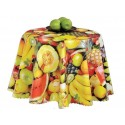 Vinyl PVC Tablecloth Easy Wipe Clean Fruits
