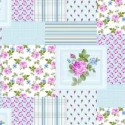 Vinyl PVC Tablecloth Easy Wipe Clean Floral Patchwork