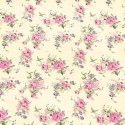 Vinyl PVC Tablecloth Easy Wipe Clean Roses Pink