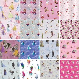 DISNEY® 100% Premium Cotton Fabric Frozen, Princess, Sofia, Trolls