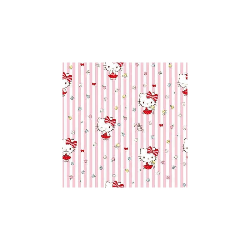 DISNEY® 100% Premium Cotton Fabric Hello Kitty Stripes