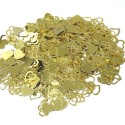 Wedding Table Confetti Scatter Sprinkle Party Decoration Foil Cut Out Hearts Gold