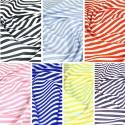 100% Cotton Poplin Fabric Rose & Hubble 8mm Candy Stripes Striped