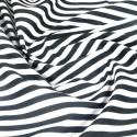100% Cotton Poplin Fabric Rose & Hubble 8mm Candy Stripes Striped Black