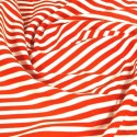 100% Cotton Poplin Fabric Rose & Hubble 8mm Candy Stripes Striped Red