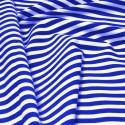 100% Cotton Poplin Fabric Rose & Hubble 8mm Candy Stripes Striped Royal Blue