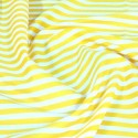 100% Cotton Poplin Fabric Rose & Hubble 8mm Candy Stripes Striped Yellow