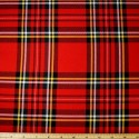 Tartan Plaid Check Polyviscose Fabric 150cm Wide, 190 gsm All Ranges 04 Royal Stewart Large