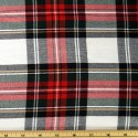 Tartan Plaid Check Polyviscose Fabric 150cm Wide, 190 gsm All Ranges 24 Dress Stewart