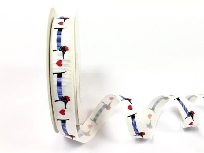 Dachshund Ribbon Grosgrain 9mm & 16mm Sausage Dog Bertie's Bows